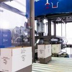 Robotic case erector and packer for narrow cases increasingly used in supermarket displays