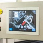 HMI displaying operator instructions for machine set up